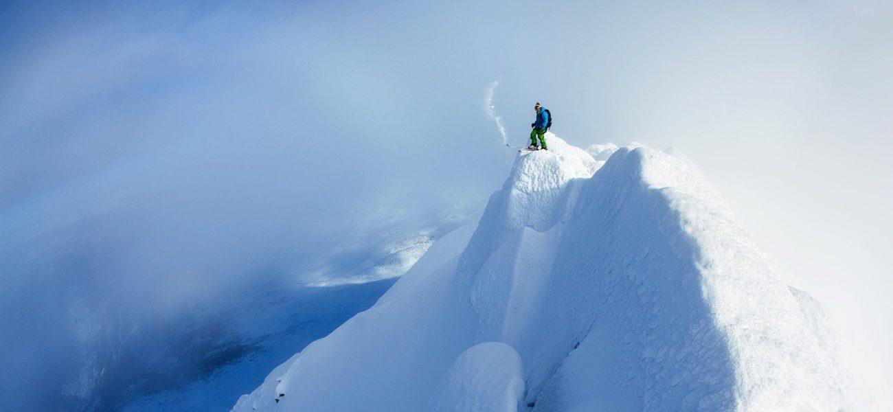 Gaustatoppen på ski