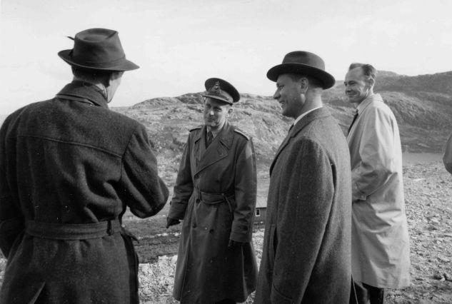 27. september 1961: Nordisk forsvarsministermøte med Gudmund Harlem, Sven Olof Morgan Andersson og Poul Hansen.