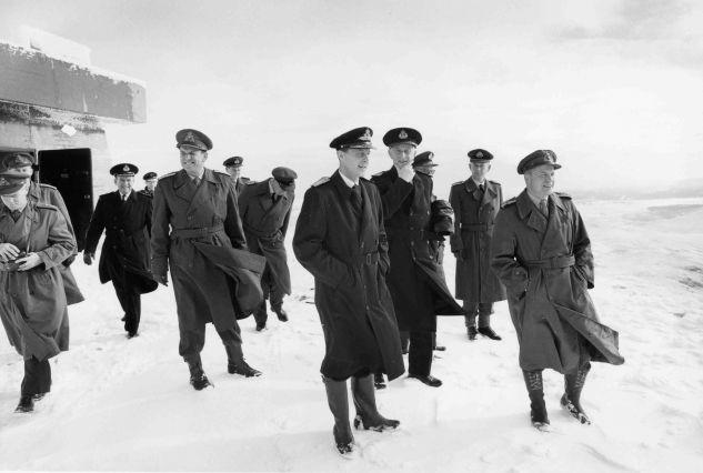 5. oktober 1963: Studietur med forsvarssjef Folke Johanessen.